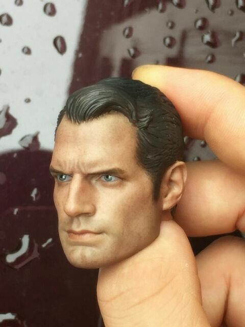 1//6 Henry Cavill Head Carving Superman 2.0 Head Carved Clark Kent Head Sculpt