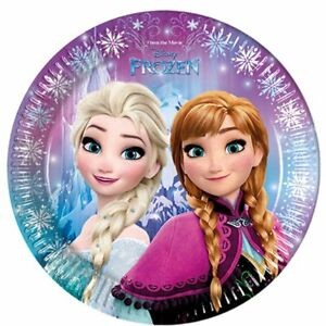FROZEN ELSA ANNA OLAF BUNTING TABLECOVER PARTY BAG PLATES CUPS NAPKINS INVITES