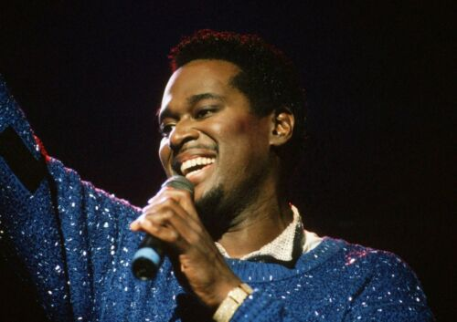Art print POSTER Canvas Luther Vandross Singing