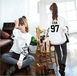 Kpop Blackpink Sweater Women Cute Sweatershirt Pullover JENNIE ...
