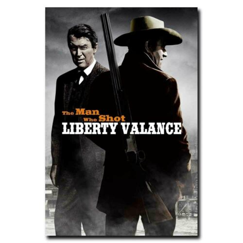 The Man Who Shot Liberty Valance 24x16inch Movie Silk Poster Art Print