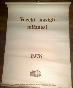 1978 Calendario.Vecchi Navigli Milanesi 1978 Calendario Banca Popolare Di