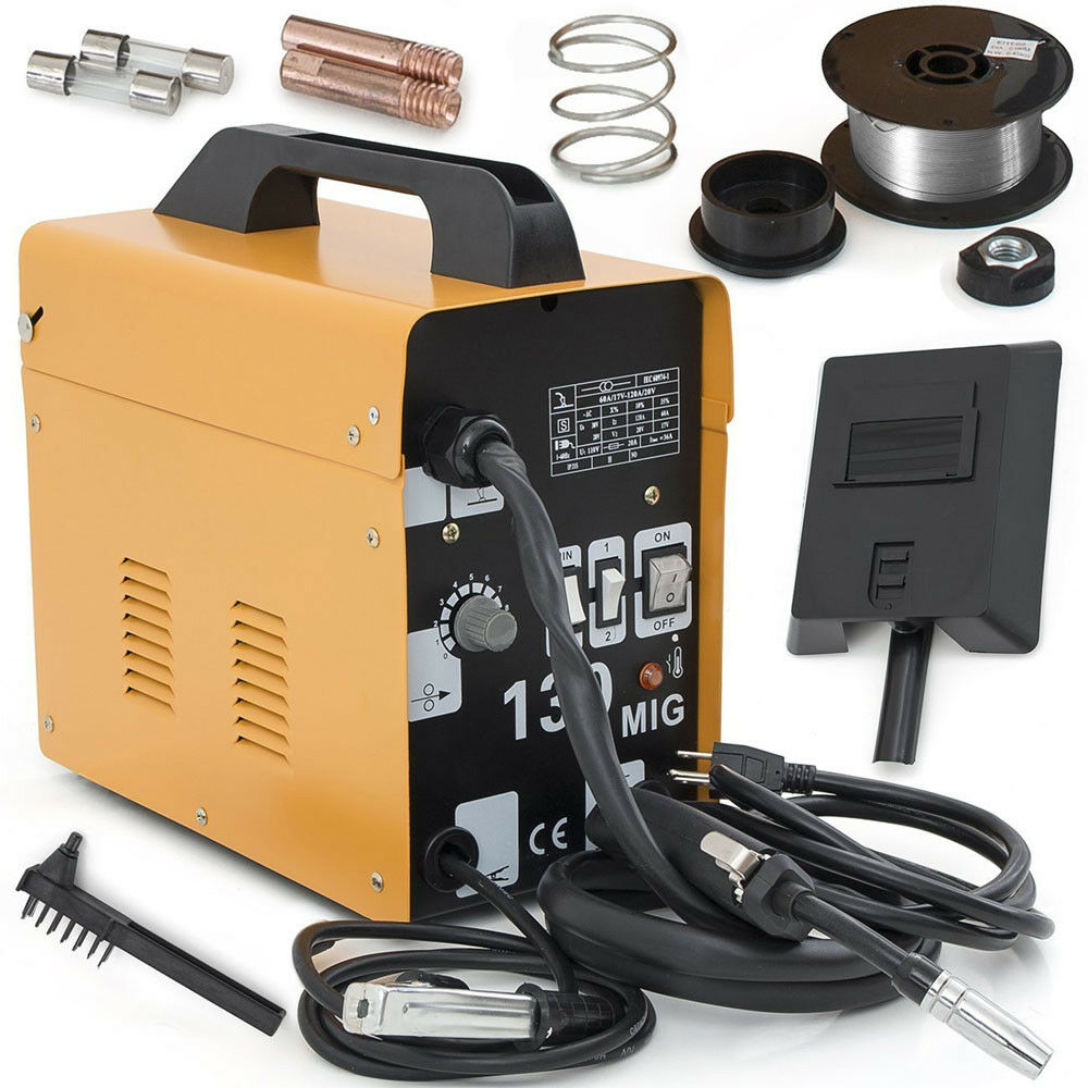 Fülldraht Schweißgerät Elektrodenschweißgerät Elektroden MIG130 InGrüner 50-120A