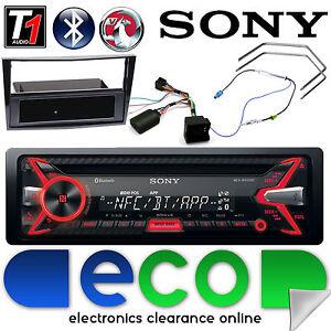 Vauxhall ZAFIRA B Sony coche estéreo Bluetooth MP3 Usb Iphone Fascia Negro Piano