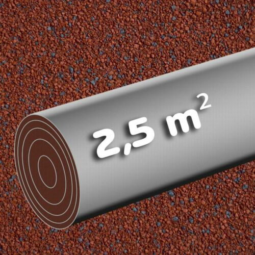 Autocollantes Feutre 2,5 mâ² rouge rôle KSK bitumenbahn 5 x 0,5 m