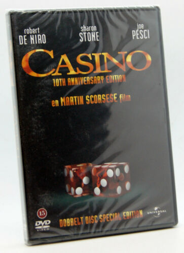 1 of 1 - Casino DVD Region 2 NEW SEALED Robert De Niro Sharon Stone Joe Pesci