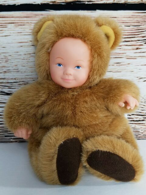 Anne Geddes blue eyed baby bear costume doll bean filled collection Tan Brown 7   sc 1 st  eBay & Anne Geddes Baby Bear Costume Doll Bean Filled Collection | eBay