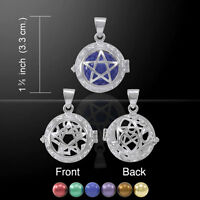 Pentacle Bola Ball Harmony Globe .925 Sterling Silver Pendant Peter Stone