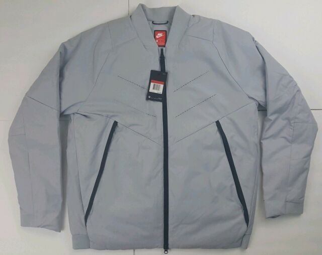 142cba07d0 NEW Nike Sportswear Aeroloft Mens Bomber Gray Black Jacket 863726 012 Size  Lg