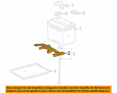 For Toyota Sienna 2004-2017 Hold Down Battery Clamp Sub-Assembly Genuine