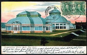 Details about 511 US NEW YORK NY CONSERVATORY BRONX PARK UNDIVIDED POSTCARD  1907