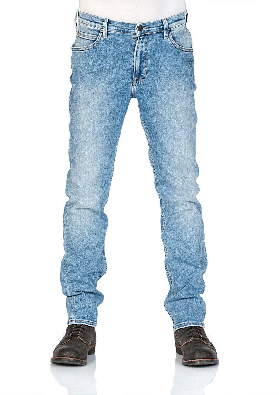 Lee Herren Jeans Rider Slim Fit - - - Blau - Placed Doodle 1cab0d
