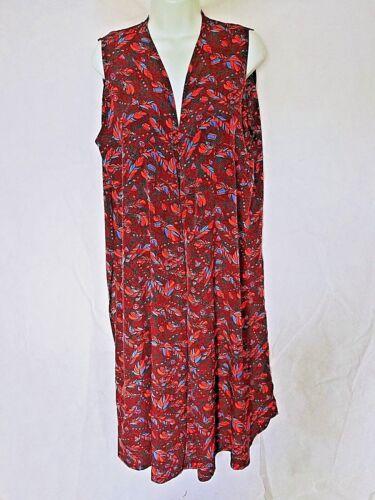 Large Lularoe Burgundy Long Nwt Vest Joy Duster Feather Black Orange Sleeveless IwHBq