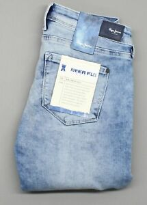 Pepe-Jeans-Power-Flex-Womens-Blue-Skinny-amp-Slim-Stretch-Jeans-W28-L28-35555