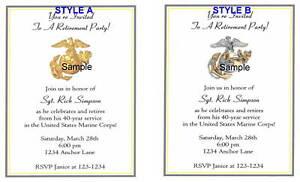 20 Personalized Invitations Retirement Usmc Marines Ebay