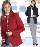 WOMENS LADIES BIG PLUS SIZE RED BLACK NAVY SMART CASUAL WORK SUIT BLAZER JACKET