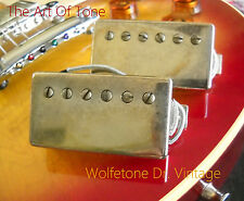 Wolfetone Dr. Vintage Humbucker Custom Wound P.A.F. Pickups - Aged Nickel Covers