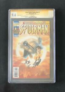 PETER-PARKER-SPIDER-MAN-1-CGC-9-6-SS-SIGNED-STAN-LEE-ROMITA-JR-SUNBURST