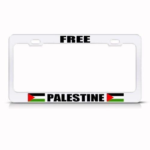 FREE PALESTINE PALESTINIAN Metal License Plate Frame Tag Holder Two Holes