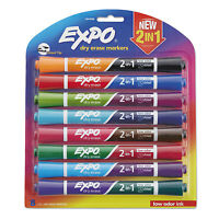Expo 2-in-1 Dry Erase Markers 16 Assorted Colors Medium 8/pack 1944658 on sale
