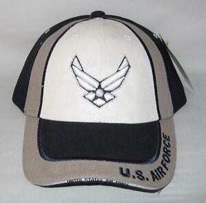 0e38af1523f NEW USAF U.S. Air Force logo cap hat. Navy Blue. 5501