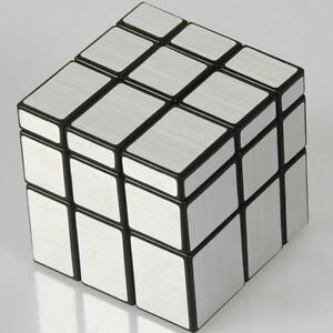 2017-Hot-Mirror-Block-Black-Frame-Magic-Cube-Puzzle-Brain-Teaser-Toy-Silver-Gift