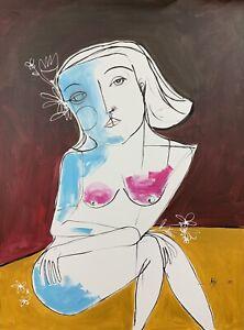 PAINTING-ORIGINAL-ACRYLIC-ON-CANVAS-CUBAN-ART-30-X40-by-Lisa