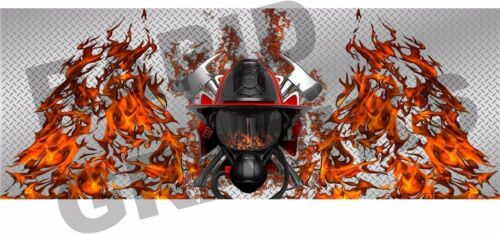 Firefighter truck tailgate vinyl graphic decal wraps