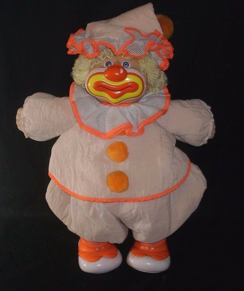VINTAGE 1985 COLECO CIRCUS CLOWN CABBAGE PATCH KIDS STUFFED ANIMAL PLUSH DOLL  A