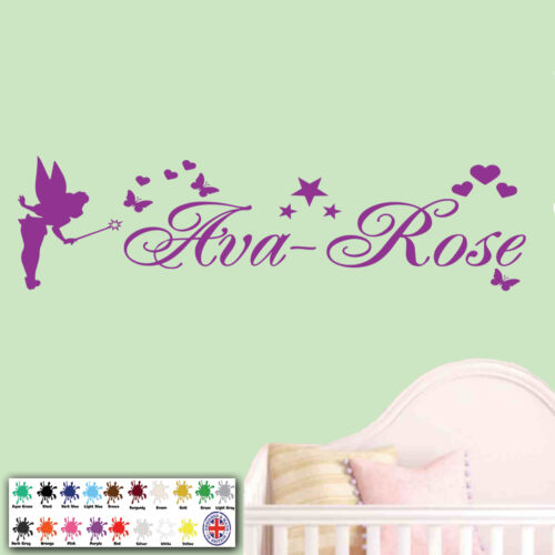 Personalised Name Fairy Stars Girls Bedroom Childrens Vinyl Wall Art Sticker