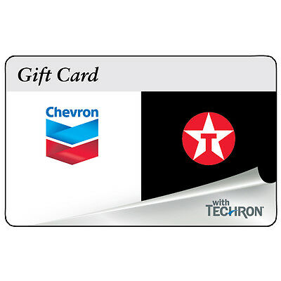 $100 Chevron Texaco Gas Physical Gift Card - Standard 1st Class Mail Delivery