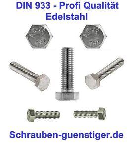 5-pieces-Vis-allen-8-mm-DIN-933-M8-x-150-acier-inox-V2A-qualite-professionnelle