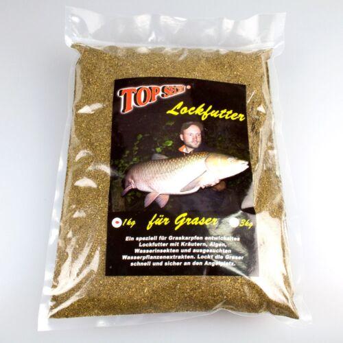 Top Secret Graskarpfen Serie 1kg Natural Graskarpfen Lockfutter 3,29€//kg
