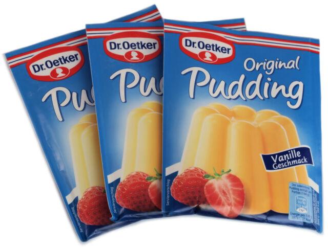 Dr Oetker Instant Vanilla Pudding - Desert - Cook & Serve - 3 x  37 g - New