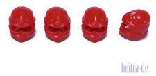 LEGO Ninjago - 4 x Turban rot / Kappe Tuch Helm / Red Wrap / 98133 NEUWARE