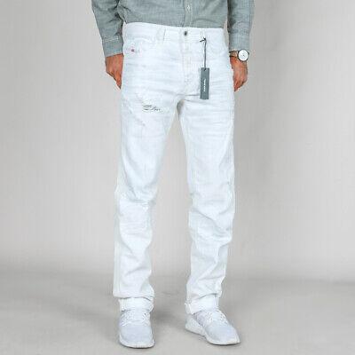 2019 Ultimo Disegno Diesel Uomo Slim Fit Jeans Stretch Pantaloni | Buster 0673q | Destroyed | W32 L32-mostra Il Titolo Originale