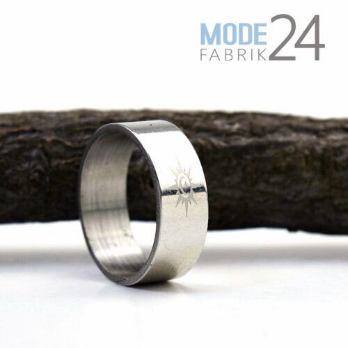 Acero inoxidable grabado señores señora anillo de plata amistad socios cruz Dios