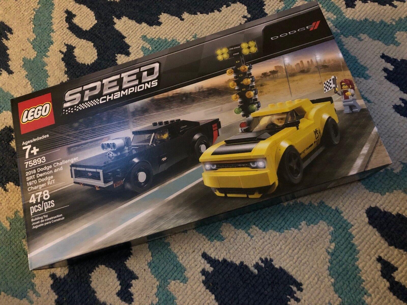 Nuevo en caja Lego VELOCIDAD CAMPEONES - 2018 Dodge Dodge Challenger SRT demonio &'70 Cochegador De 75893  liquidación hasta el 70%