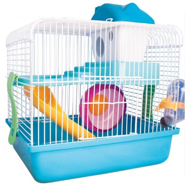 2 Floor Pet Hamster Gerbil Carrier Cage Home House Fun Play Centre ...