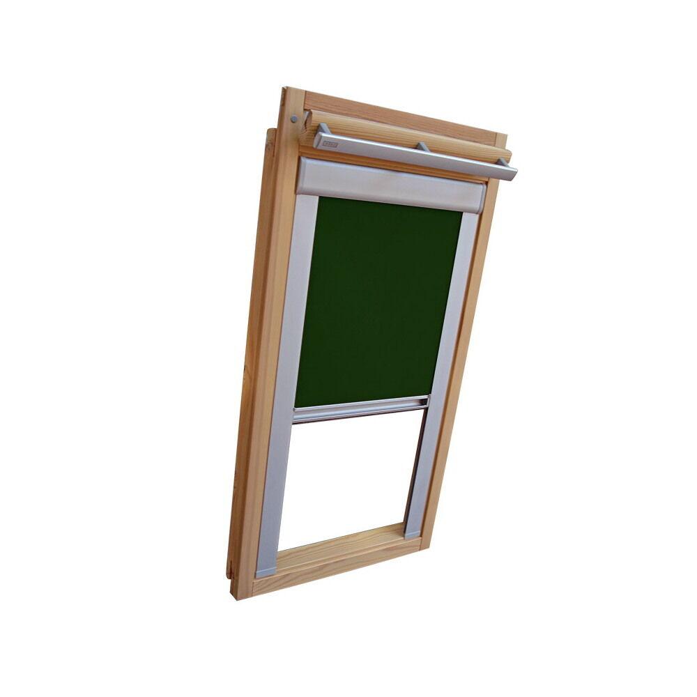 Dachfensterrollo Verdunkelungsrollo für Roto WDF 310 319 329 - dunkelgrün  | Neuer Stil