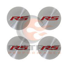 2016 2017 Camaro Genuine GM Aluminum Center Cap Red RS Logo Set Of 4 19351756