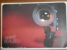 Vecchio catalogo in tedesco SUPER 8 BEAULIEU Cinepresa Accessori 5008 4008 3008
