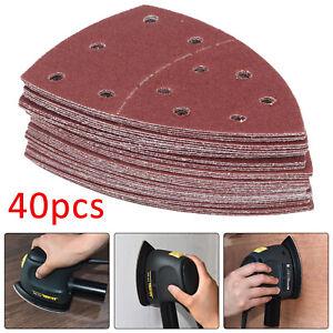 40X Abrasive Sanding Sheets For Bosch PSM 100A Detail Palm Sander 40-180 Grit UK