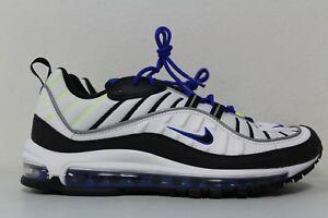 air max 98 white blue black