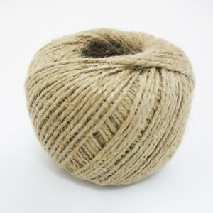 350-039-Feet-Natural-2-Ply-Twisted-Jute-Twine-Rope-Bird-Parrot-Toy-Craft-Parts-Long