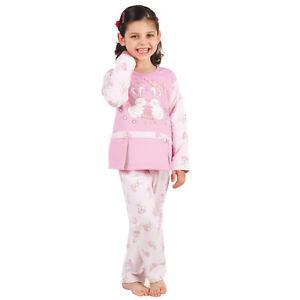 Kinder Mädchen Schlafanzug Gr. 110 5 Jahre rosa Pyjama Nachtwäsche - 270