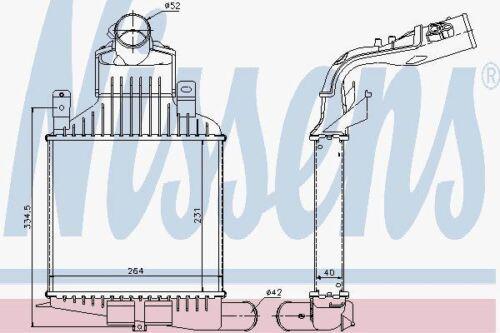 Nissens 96591 Ladeluftkühler für Opel Astra H 1.6-2.0 Turbo 04