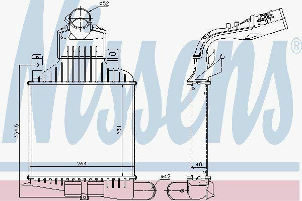 Nissens 96591 Intercooler para Opel Astra H 1.6-2.0 Turbo 04-