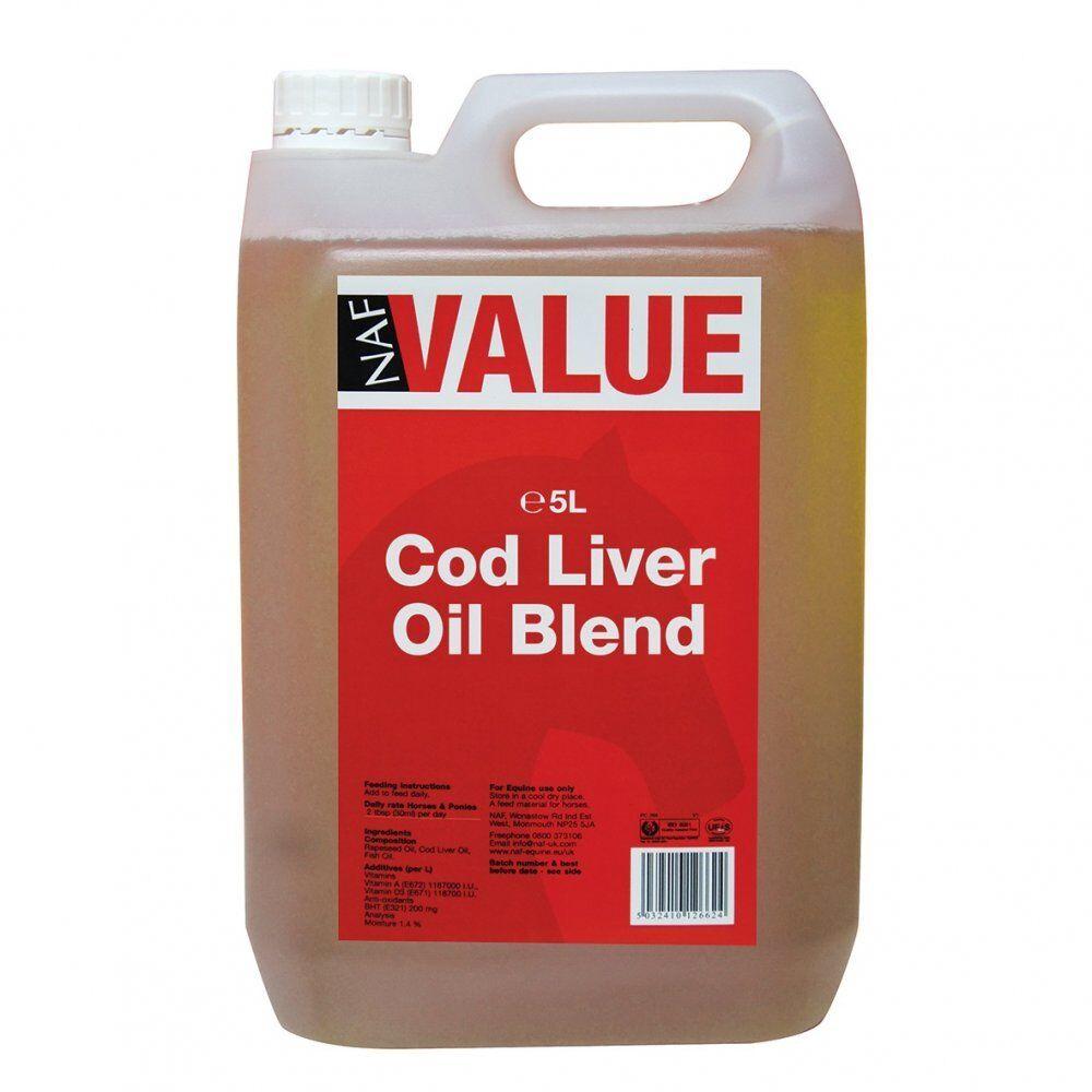 New Horse Cob Pony NAF VALUE Cod Liver Oil Blend 5L Equine Use Only