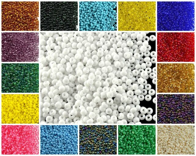 Czech Glass Seed Beads Size 10//0 Opaque Turquoise